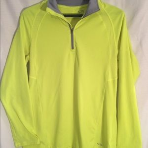 Champion florescent green/yellow pullover. Size S